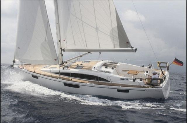 Bavaria Vision 42 sailing upwind