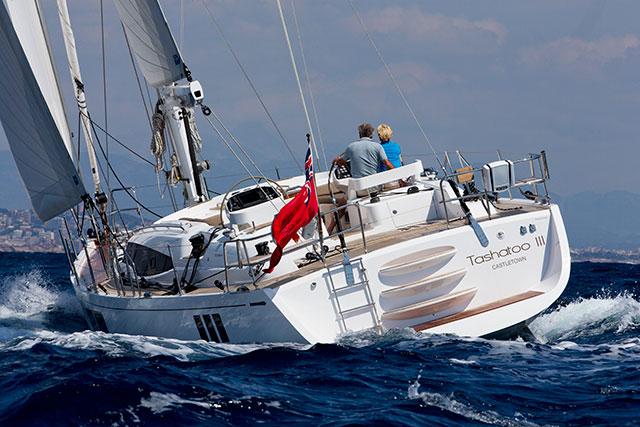 Gunfleet 58 under sail