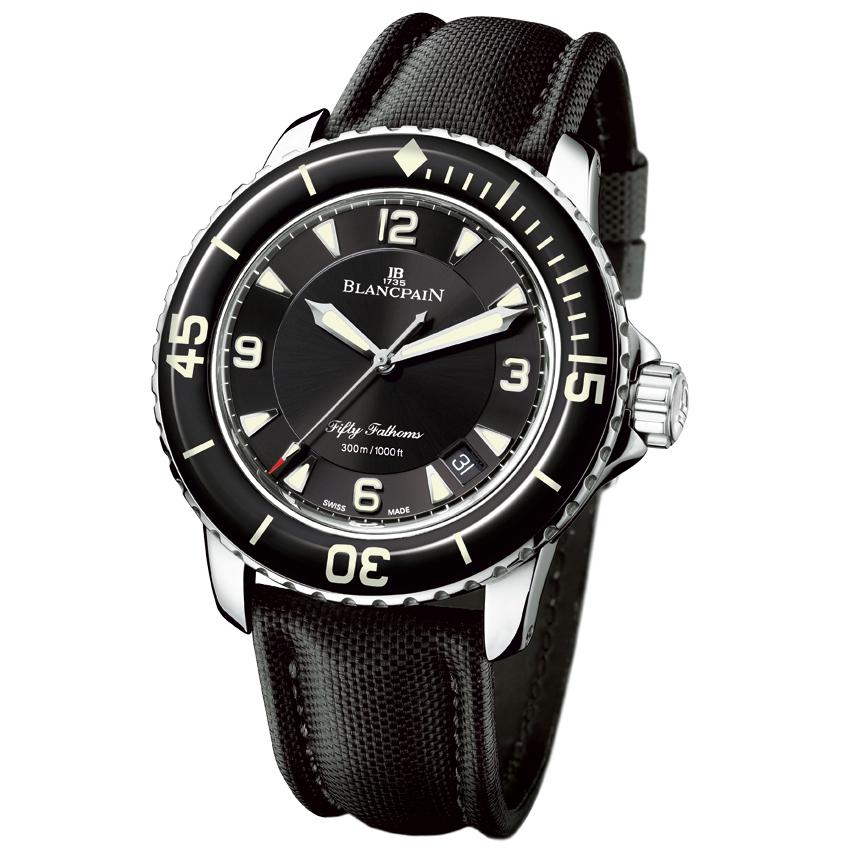 Sailing watches: Blancplain 50 fathoms