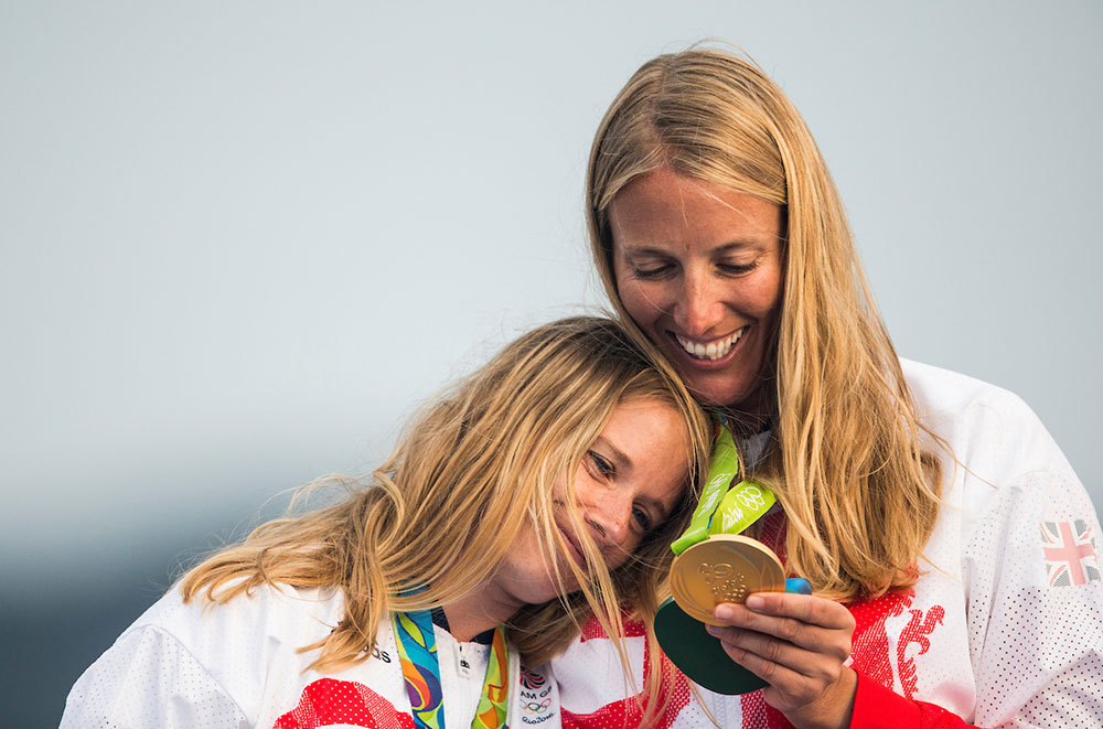 hannah Mills Saskia Clark 2016 Rio Olympic Games: Sailing: Photo Sailing Energy/World Sailing.