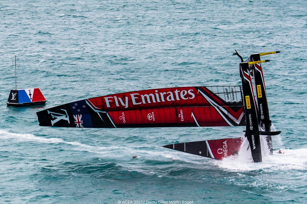 2017 America's Cup New Zealand capsize