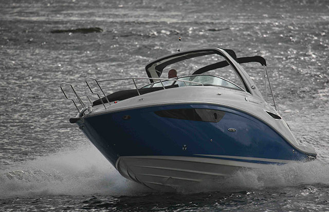 Sea Ray 265 Sundancer review right turn