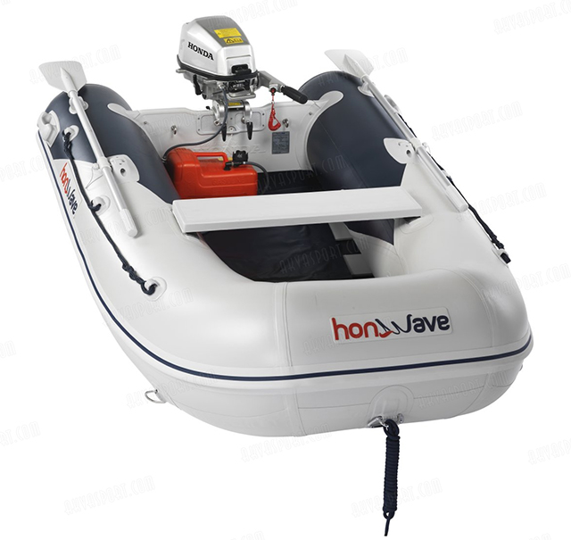 a branded inflatable tender package