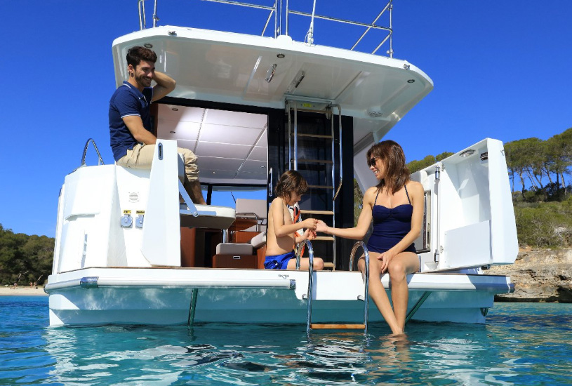 The Beneteau Swift Trawler aft deck
