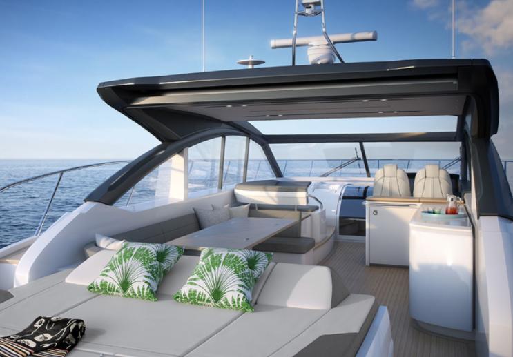 Main deck – Princess V58 Open