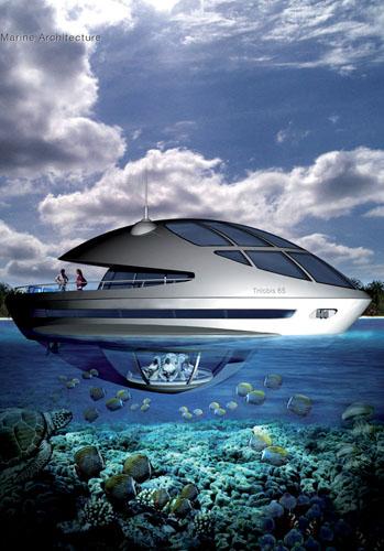Bond villain boats: Trilobis