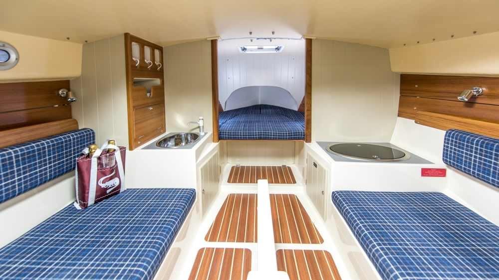 Down below aboard Cornish Shrimper 21