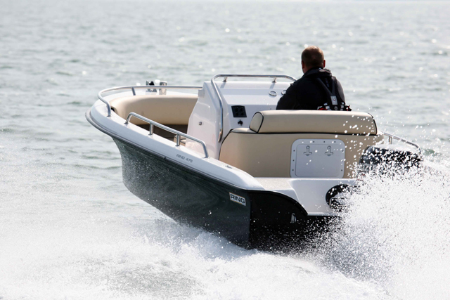 A small open power boat