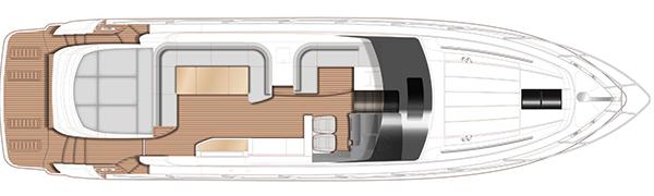 Princess V58 Open: main deck plan