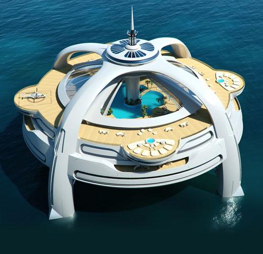 Bond villain boats: Project Utopia