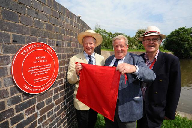 First Red Wheel plaque unveiled at Hatton Locks