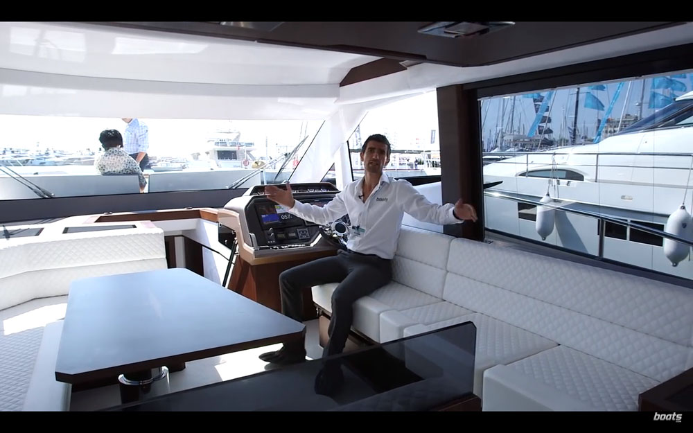 Uninterupted deck area - Galeon 500 Fly