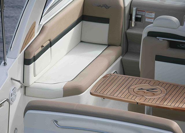 Sea Ray 265 Sundancer review port bench option