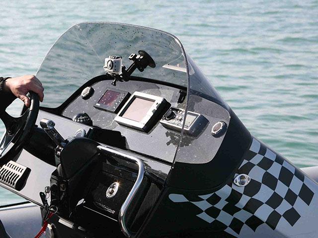 The Aquavite 888 helm position