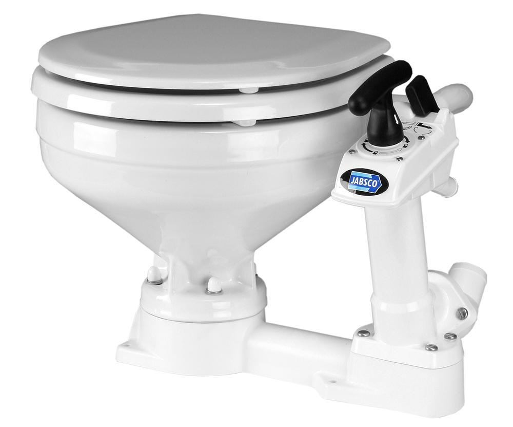 Jabsco's manual-flush pump-out toilet