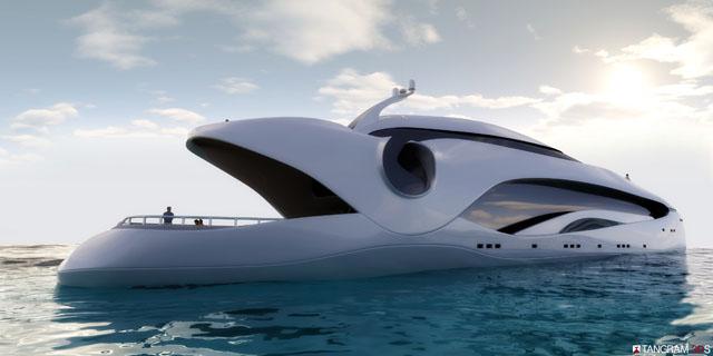 Bond villain boats: Oculus
