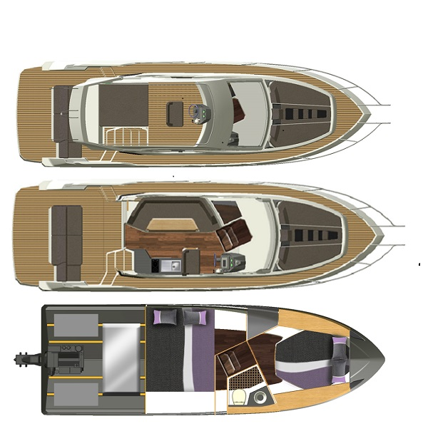 Galeon 300 Fly lower deck