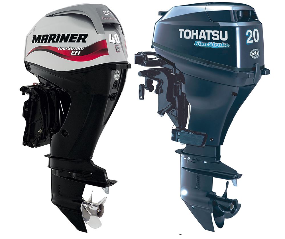 Outboard engines: Mariner F 40 and 6 Tohatsu TLDI90