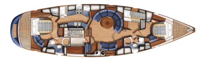 Oyster 56 interior