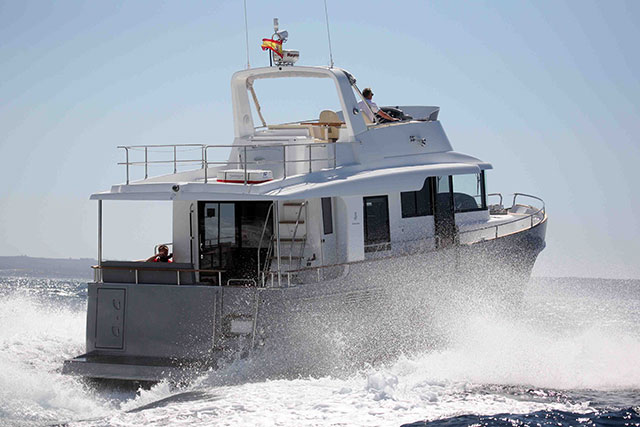 Beneteau ST 50 from the stern