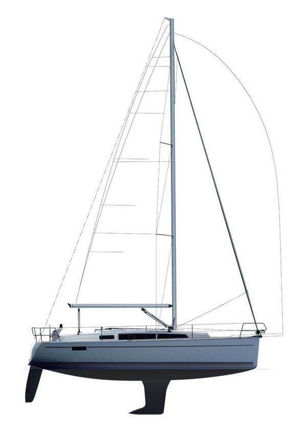Bavaria cruiser 33 sail plan