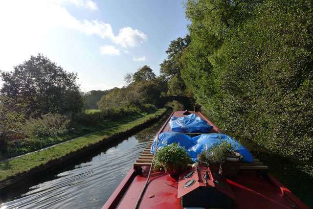 Cruising on a narrowboat