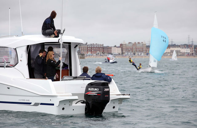 Antares 8 - one of the powerboats at the Olympics