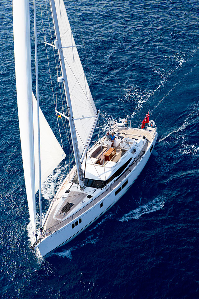 Gunfleet 58 sailing downwind