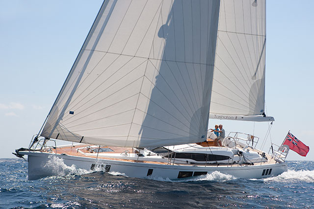 Gunfleet 58 sailing upwind