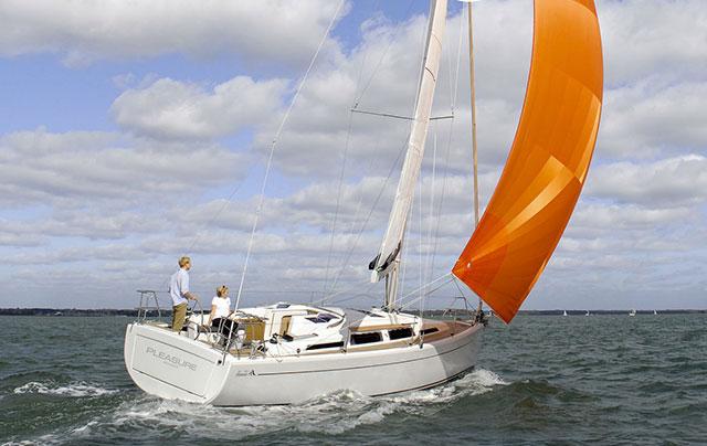 Hanse 345 downwind