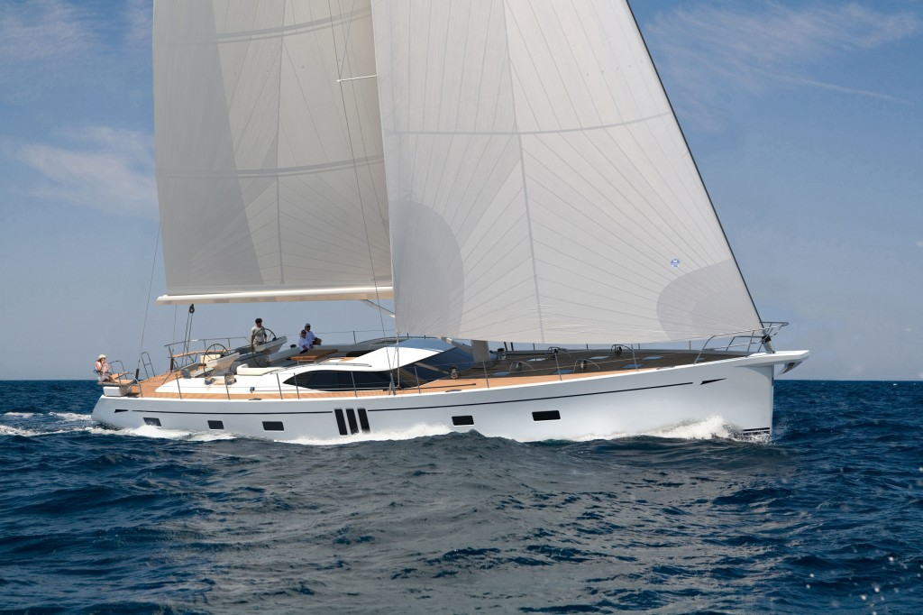 Oyster 825 under sail
