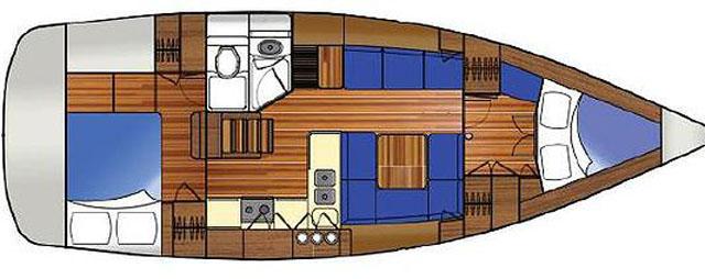 Marlow Legend 37 accommodation plan