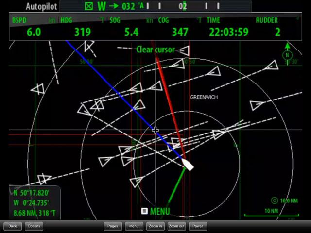 AIS display: numerous targets