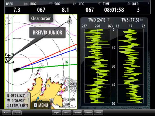 AIS on split screen chartplotter