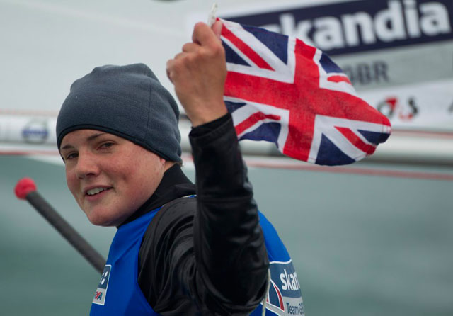 Alison Young Laser Radial gold medal winner