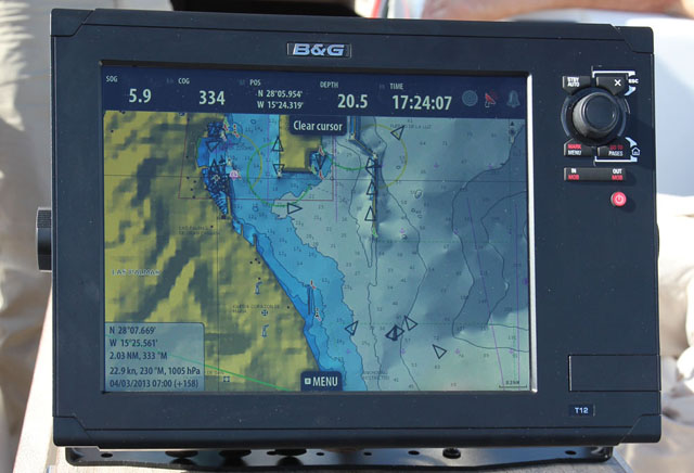 Anchored AIS targets on a plotter