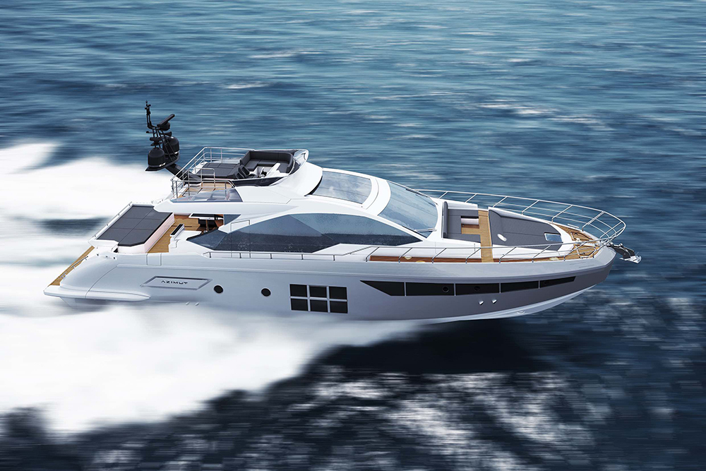 Azimut's new 35-knot sports yacht will be officially launched at the Cannes Yachting Festival in September 2017.