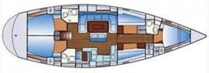 Bavaria 50 - as many as five cabins and up to 100hp in the engine room.