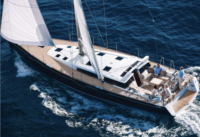 Sense 55 under sail