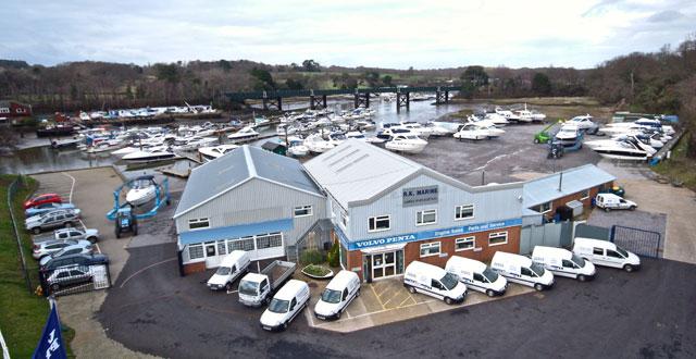 New Volvo Penta service facility in Hamble