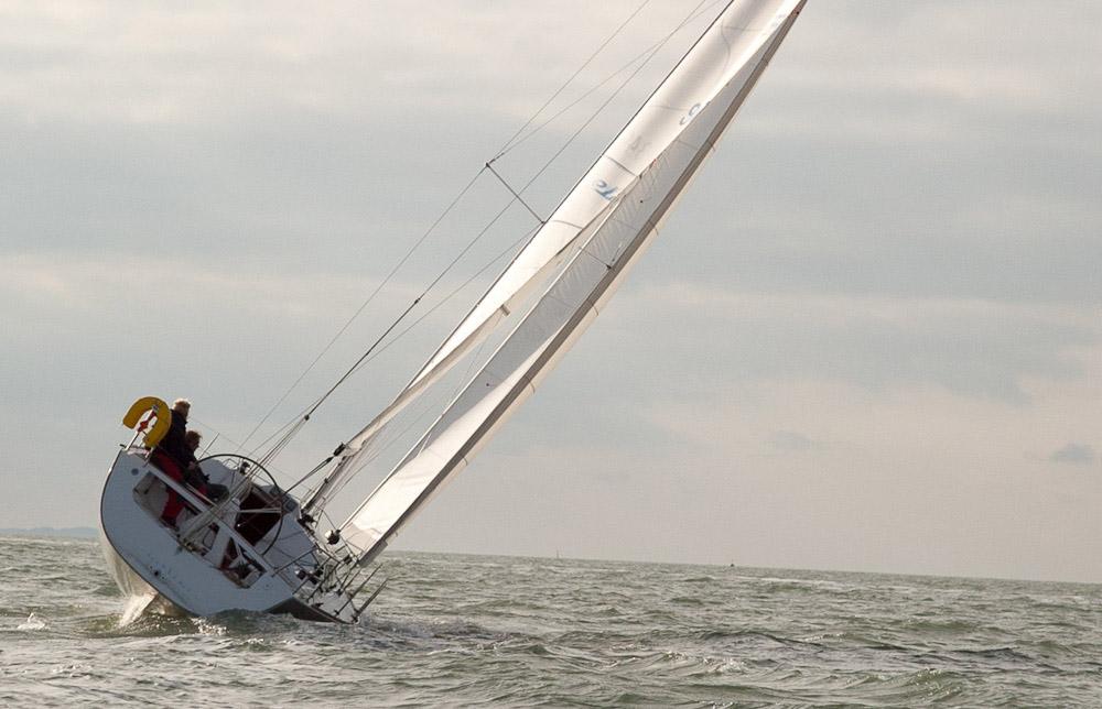 Reefing a yacht