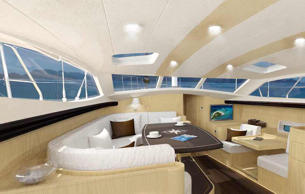 Discovery 48 interior
