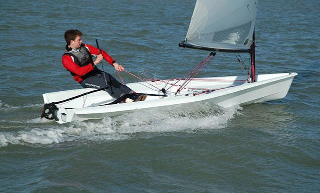 RS Aero sailing.