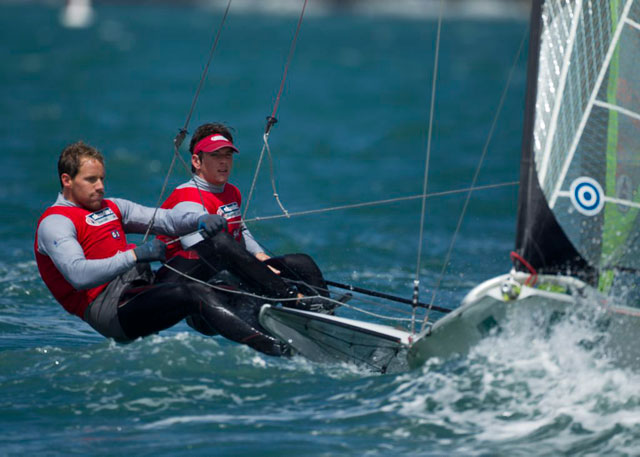 Dylan Fletcher and Alain Sign Skandia Sail for Gold 2012