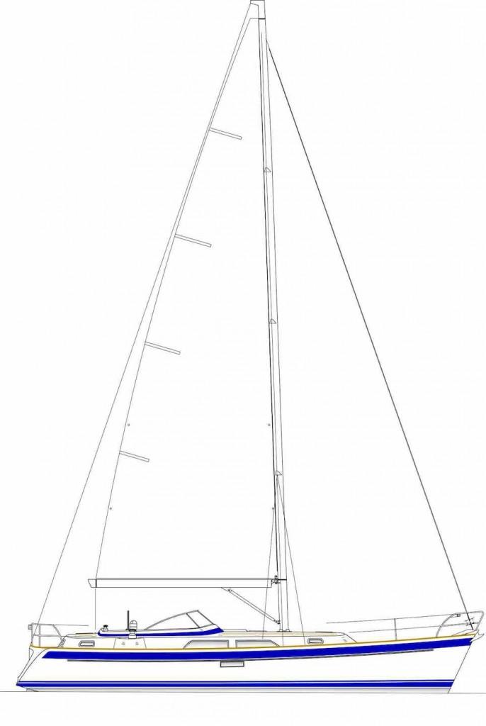 Sail plan: Hallberg Rassy 40 Mk2 review