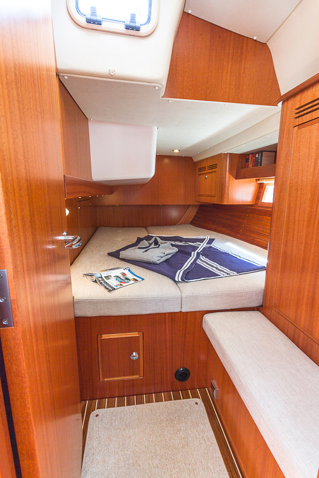 The optional twin aft cabin