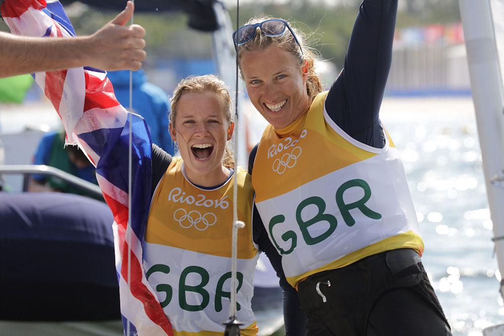 Gold for Hannah Mills and Saskia Clark