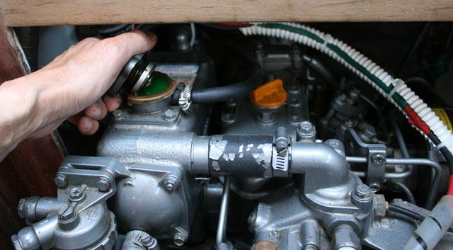Marine diesel heat exchanger