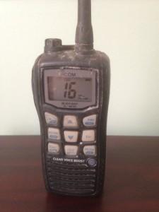 handheld VHF survives 4 months at sea