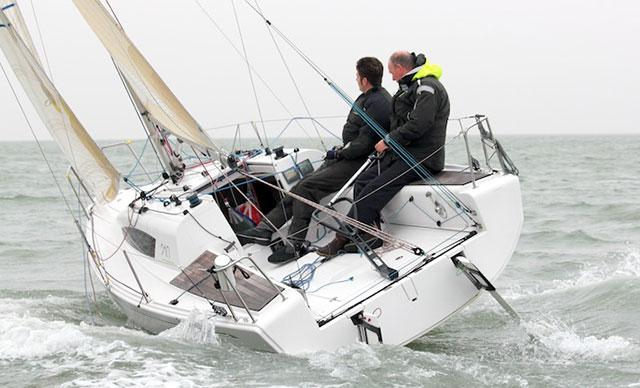 Elan 210 boat test helming position